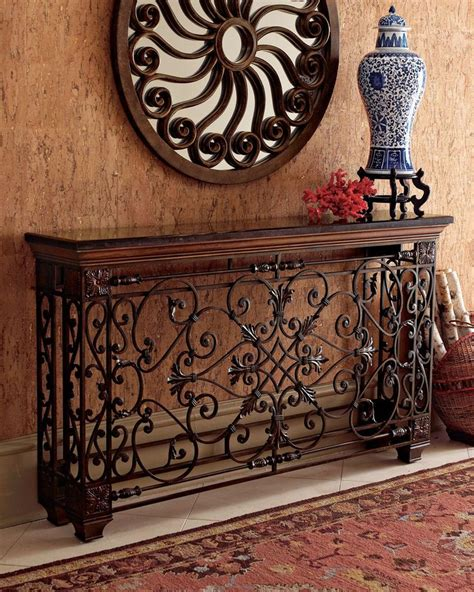 wrought iron table decor 116 best images about tuscan console decor on