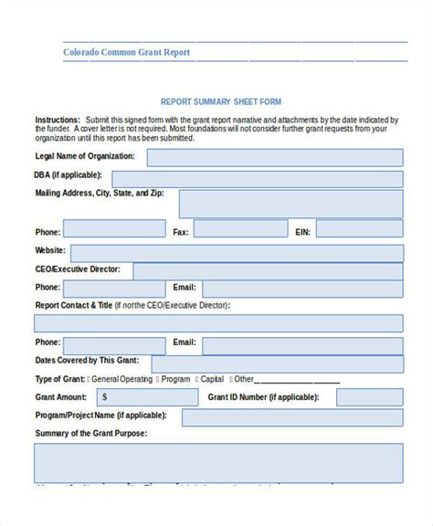 grant expense report template grant report form phs2590 logo and form