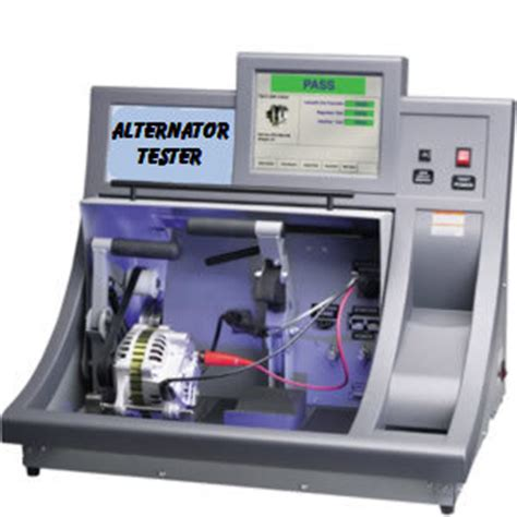 alternator bench tester how to test an alternator