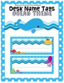 Student Desk Name Plates by Ocean Themed Desk Name Tags Cubbies Set Of And Student