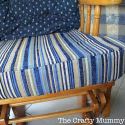 Glider Chair Cushion Covers How To Cover A Chair Cushion The Crafty Mummy