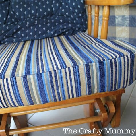 how to cover a seat cushion for a bench how to cover a chair cushion the crafty mummy