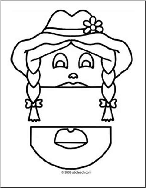 paper bag puppet boy pattern paper bag puppet people farmer girl abcteach