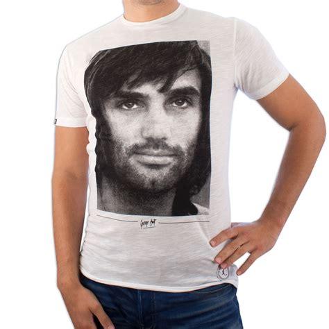 t shirt george best copa football george best portrait t shirt white
