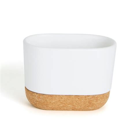 Umbra Bathroom Accessories by Umbra Kera Bathroom Collection In White And Cork From