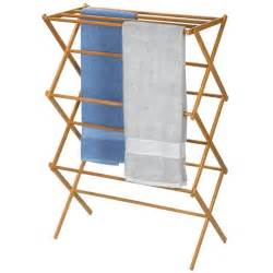 Hanging Clothes Dryer Rack A Bamboo Folding Clothes Drying Rack Will Let Your Hang
