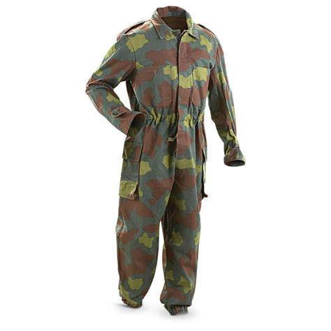 Army Set Overall By Anfashion used italian san marco coveralls vintage camo 190628