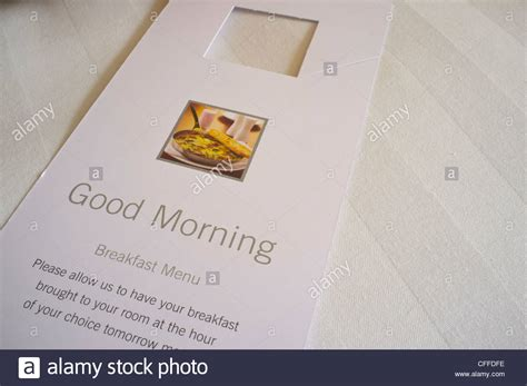 room service card morning hotel room service card stock photo royalty free image 43980482 alamy
