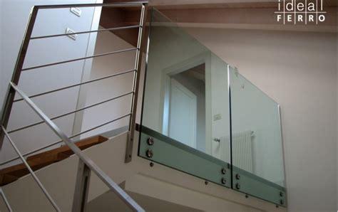 ringhiera vetro ringhiera in ferro con cavi in acciaio inox idealferro