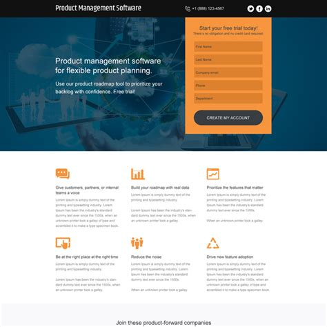best landing page software landing page design templates