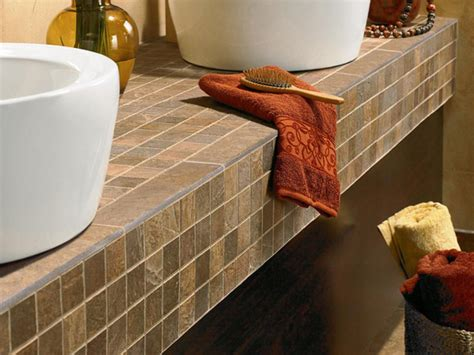 tile bathroom countertop ideas tile countertop buying guide hgtv