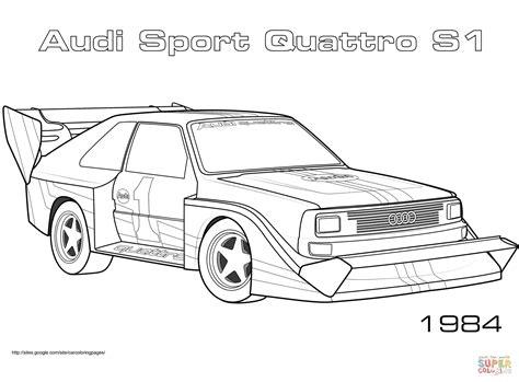 Rally Auto Zum Ausmalen by Coloriage 1984 Audi Quattro Sport S1 Coloriages 224