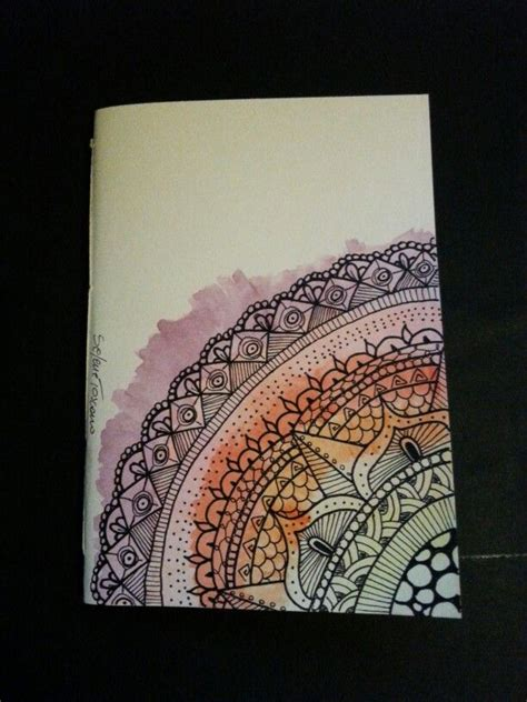 diy cover pattern illustrated notebook cover zentangle design diy notebook