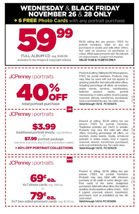 jcpenney printable coupons photo studio wednesday and black friday at jcpenney portraits