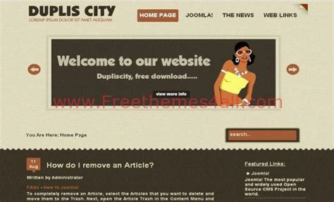 business portfolio joomla template free joomla themes