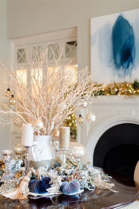 decorating for christmas with gold blue and gray blue decorating ideas a tour of our home
