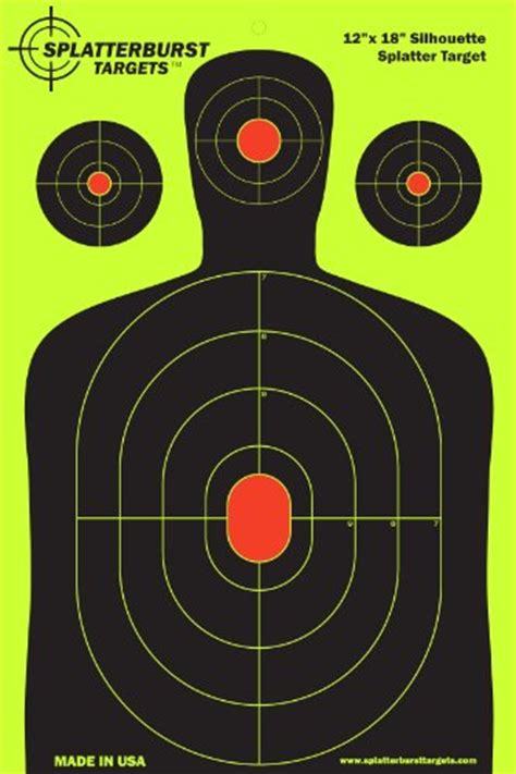 Target Yellow L by Splatterburst Targets 12 X18 Inch Silhouette Reactive