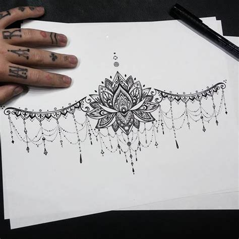 lotus flower tattoo under breast 25 best ideas about underboob tattoo on pinterest