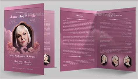 37 Funeral Brochure Templates Free Word Psd Pdf Exle Ideas Bi Fold Program Template