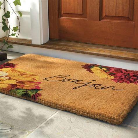 Fall Front Door Mats Autumn Bonjour Coco Door Mat Rugs For The Home