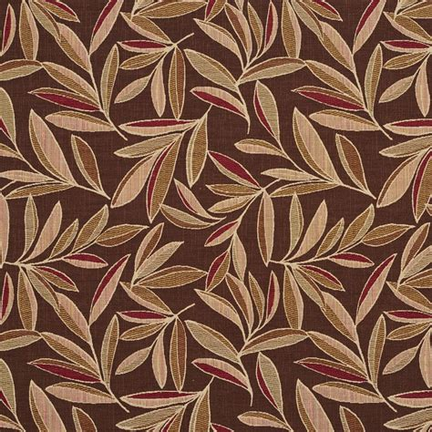 colorful upholstery fabric e720 dark brown red and light green woven colorful