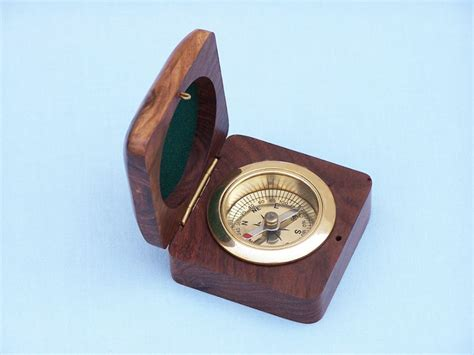terrasse w co compass buy brass desk compass w rosewood box 3 quot model ship