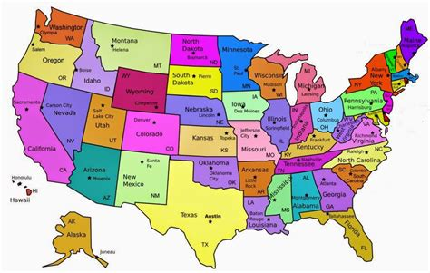 Search Usa Free Printable 50 States And Capitals Map Search Results