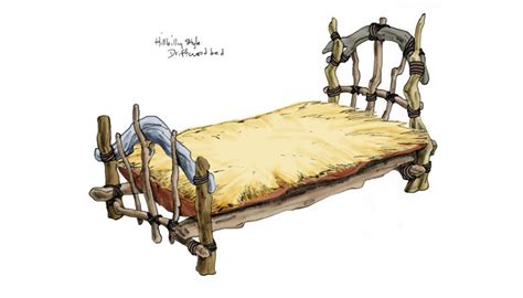 makeshift bed concept sketches for an original title