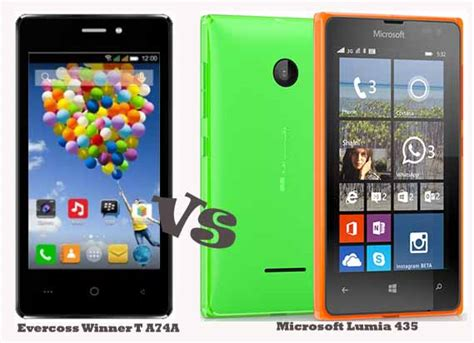 Hp Android Nokia Lumia 435 evercoss winner t vs microsoft lumia 435 adu smartphone