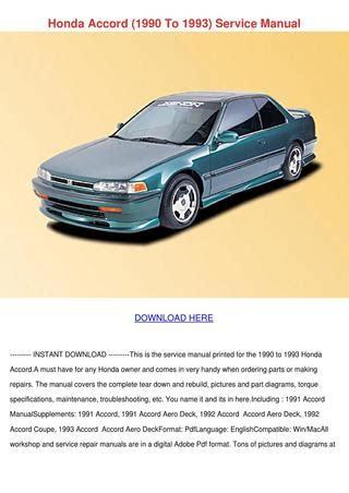 1993 honda accord service manual free download honda accord 1990 to 1993 service manual by nada tallada issuu
