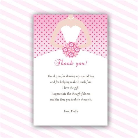 thank you letter to for bridal shower dress thank you cards bridal shower thank you notes sweet