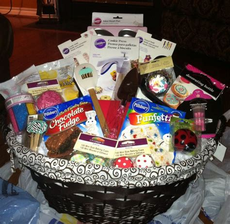 Bridal Shower Gift Basket Ideas by All Things Baking Gift Basket For A To Be Makes