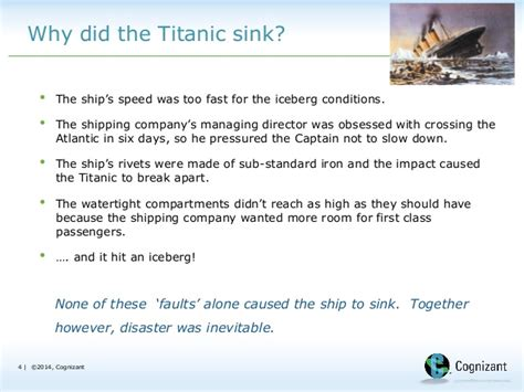 when did the titanic sink optimism will sink a project