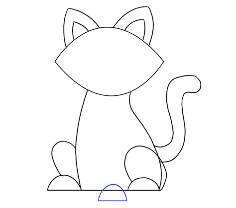 Easy Steps To Draw A Cat by How To Draw A Simple Cat Easy Drawing Guides