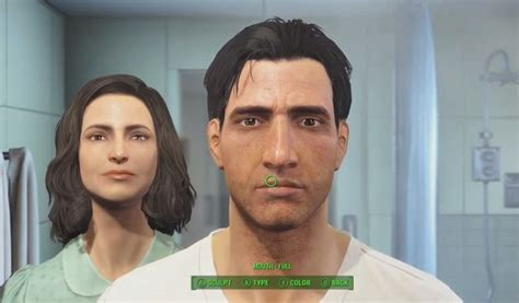 with wife in bathroom fallout 4 character customization face scultping with wife