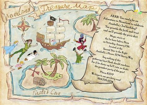treasure map invite peter pan pinterest