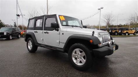 jeep wrangler unlimited top 2008 jeep wrangler unlimited x top silver