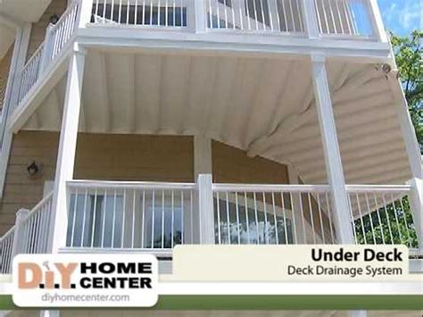 Diy Deck Drainage System by Underdeck Deck Drainage System