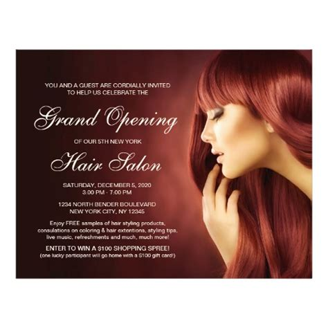 are you opening a new salon or giving your salon design a hair salon grand opening flyer templates zazzle