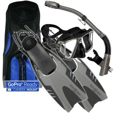 Gopro Lung aqua lung recife mask gopro ready mantis snorkel and