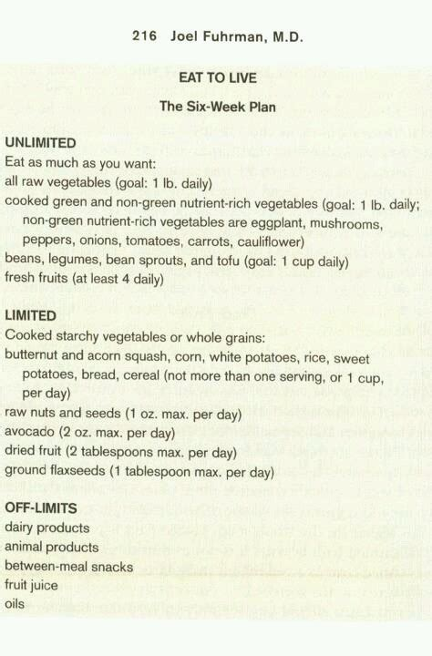 Transitions Lifestyle System Detox Week by Eat To Live The Six Week Plan 2 Week Detox