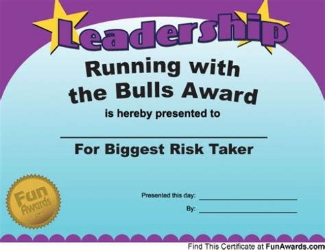 award running with the bulls award cruise 2015