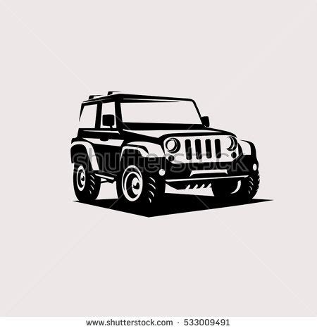 jeep silhouette jeep off road silhouette