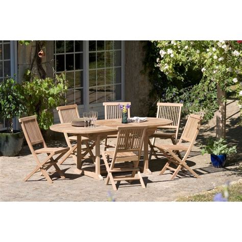 Coffre Banc 1538 by Salon De Jardin N 176 2 En Teck Comprenant 1 Table Ovale 6