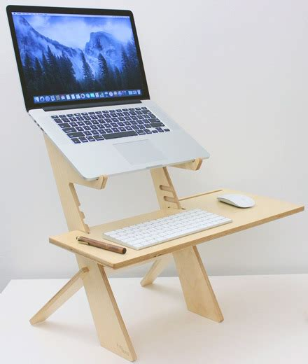Simple Standing Desk by Sleek Simple Standing Desks Agency Addicts
