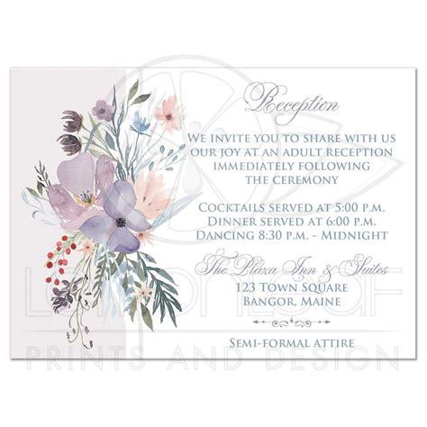 Wedding Reception Cards by Bohemian Wildflowers Wedding Reception Card Smoky Blue
