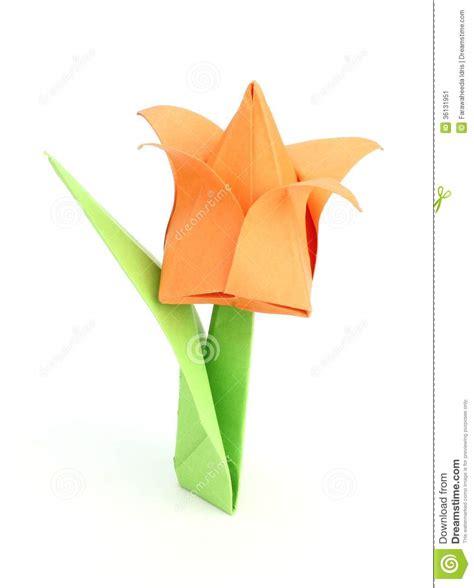 Japanese Flower Origami - origami tulip flower stock image image 36131951