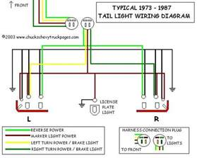 headlight and light wiring schematic diagram typical 1973 1987 chevrolet truck chevy