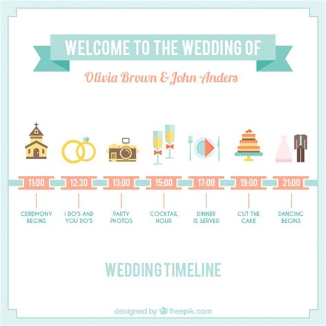 cute wedding timeline graphic vector premium download