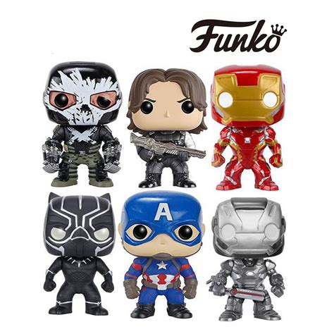 Funko Pop Marvel Captain America Civil War Black Widow 132 funko pop genuine marvel captain america 3 civil war captain america iron man war machine black